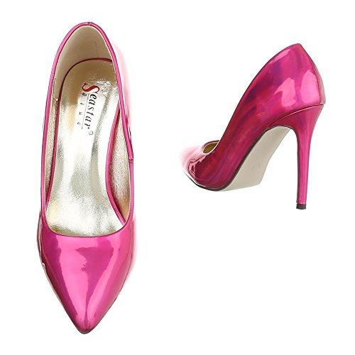 femme compensées Design rose chaussures bonbon Ital SRwqBv
