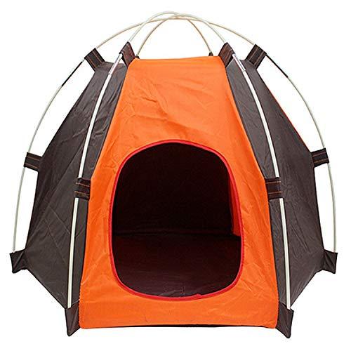 Wmchiwan Tragbares faltbares Campingzelt für Hunde und Katzen, feuchtigkeitsbeständig, UV-Schutz für drinnen und draußen