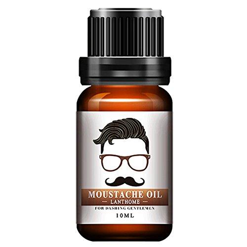 Huile à Barbe 100% Naturel Traitement de Moustaches Beard Oil Parfait pour Entretien de Barbe Cadeau Idéal pour Papa Grand-père