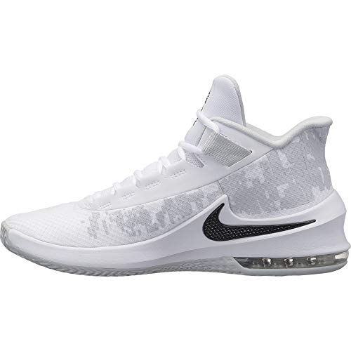 Nike Herren Air Max Infuriate 2 Basketballschuhe, Mehrfarbig (White/Black/Pure Platinum 001), 43 EU