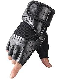 Demarkt 1 Paire Gants Sport Chaude Mitten Tactile d'hiver Gloves Running Coupe-vent en vélo Gym Workout pour protéger Homme et Femme poignet Noir