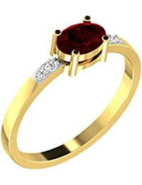 His & Her 18KT Yellow Gold, Diamond And Amethyst Ring For Women