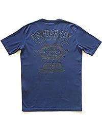 dsquared dsquared2 t-Shirt Maglia Manica Corta Uomo Cotone Blu s71gd0284 95e92a5869b3