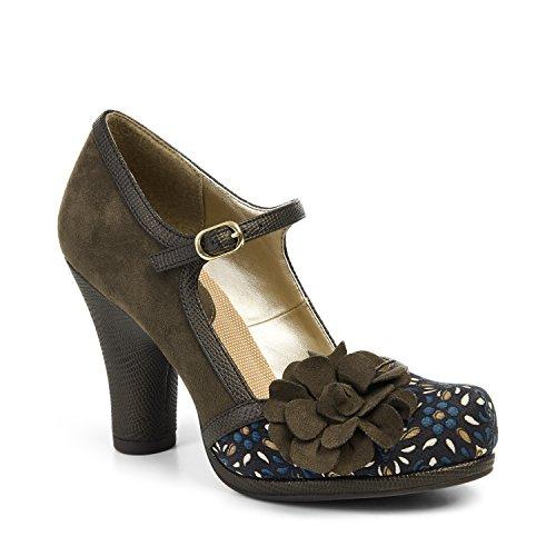 594e46bba5655 Ruby Shoo Hannah Olive Womens Hi Heels Shoes-3