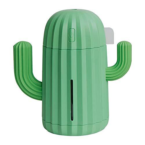 LY/WEY Cactus Forma Oficina Dormitorio Salon USB De Gran Capacidad De Bajo Ruido Spray Humidificador,Verde
