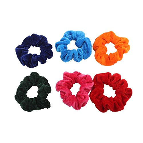 Velvet Dark Shades Hair Ties and Bands  available at amazon for Rs.84
