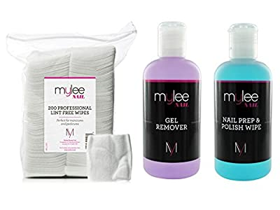Mylee Prep & Wipe With Remover & Nail Wipes UV LED Kit Package Nail Gel Polish Soak Off NEW