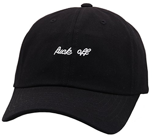 Sujii THE BLACKs noir Casquette de Baseball Chapeau de Golf Baseball Cap Golf Hat Trucker Hat/Fuck Off
