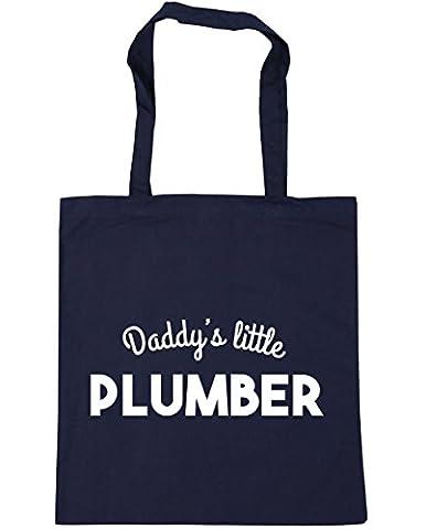 hippowarehouse Daddy's Little plombier Sac Shopping Gym Sac de plage 42cm x38cm, 10litres - bleu - Taille unique