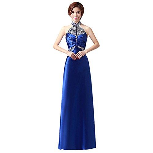 Drasawee Damen Empire Kleid Königsblau
