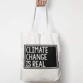 CLIMATE CHANGE IS REAL leinentasche aus natürlicher baumwolle WAHL VON ZWEI FARBEN for activism, feminism