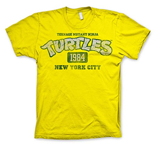 Teenage Mutant Ninja Turtles NY 1984 T-Shirt Grün Gr. X-Large, gelb