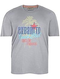 Camiseta Redfield en talla grande y color gris