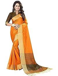 4f128ee0b291c9 Perfectblue Women`s cotton Silk designer saree with blouse  piece(SlubJalarVariation)