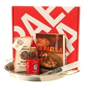 La Paella Kit with 14-Inch Stainless Steel Pan in Gift Box by La Paella, LLC.