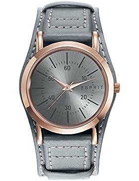 Esprit ES906582001 esprit-tp90658 grey Uhr Damenuhr Edelstahl vergoldet 30m Analog grau