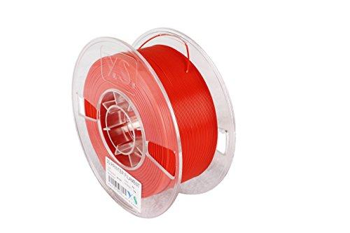 MABS-R-1000 3D Filament mit weniger Verkrümmungsproblem für große Teile und hohe Festigkeit, ABS, 1,75 mm, Geändert, Gewirr frei, 1 kg, Rot ()