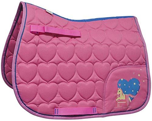 Little Rider Kinder/Kinder Kleine Show Pony Sattel Pad - Cameo Pink/Regatta Blau, Pony/Cob -