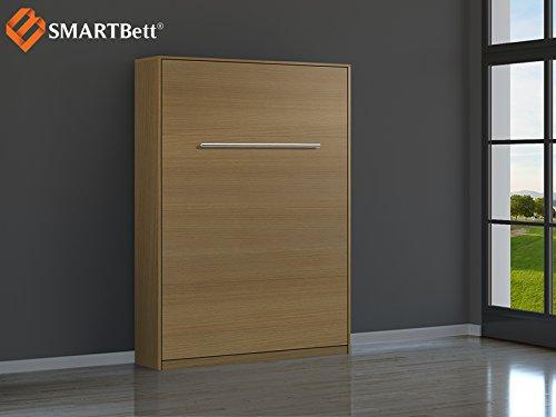 SMARTBETT Schrankbett Gästebett murphy bed140x200 vertikal Buche