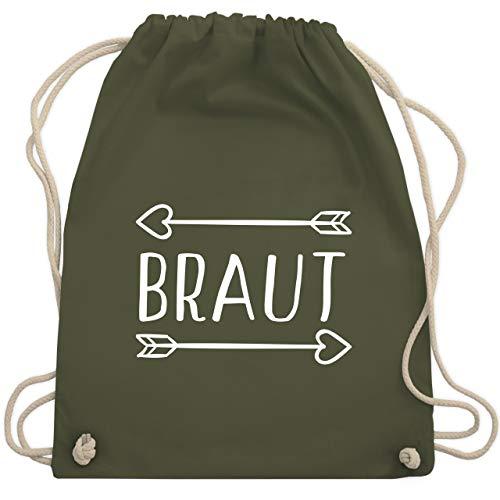 bschied - Braut Pfeile - Unisize - Olivgrün - WM110 - Turnbeutel & Gym Bag ()