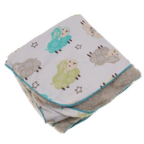 Preisvergleich Produktbild Neugeborenes Baby decken Erstlingsdecke 100% Baumwollfleece Berber Vliesdecke Bettwäsche Unisex - Schaf, one size