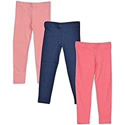 Luke and Lilly cotton sleepwear pyjama pants for girls Pack of 3