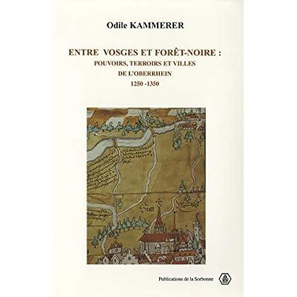 Entre Vosges et Forêt-Noire: Pouvoir, terroir et villes de l'Oberrhein. 1250-1350 (Histoire ancienne et médiévale t. 64)
