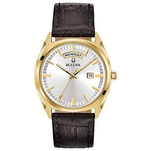 bulova orologio analogico quarzo uomo con cinturino in pelle 97c106