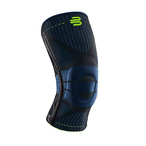 """Bauerfeind Kniebandage """"Knee Support"""" für Männer, 1 Sportkniebandage für Fußball, Joggen oder Fitness, Meniskus Knie-Bandage mit Silikonring, Rechts & links tragbar"""
