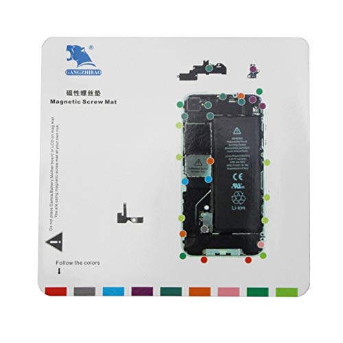 CellphoneParts YHM Magnetic Screws Mat für iPhone 4, Größe: 20 x 19 cm (Weiß) (Color : Weiß) - Mat 4 Schraube Iphone