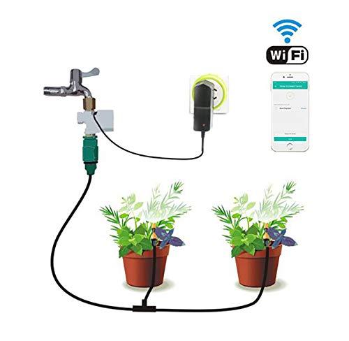 TQ Control del teléfono Temporizador de riego del jardín Automático Sockets WiFi Automatización...