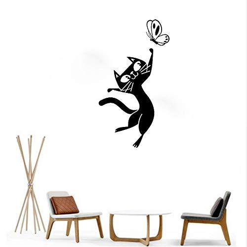 zlhcich Chat et Papillon Enfant Stickers Muraux pour Chambre Mignon Bébé Pépinière Stickers Muraux Enfants E-co Amical Decal Home Art Decor 40 * 65 cm