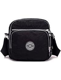 Messenger Bag For Men, Cross Body Shoulder Sling Bag Travel Outdoor Gym Backpack Black By Hikker-Link