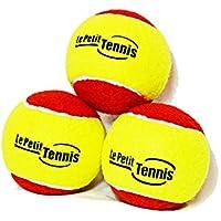 Ma Première Balle de Tennis pour enfant Rouge & Jaune - Le Petit Tennis (pour enfants) - Pack de 3 Balles