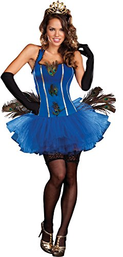 Sexy Royal Peacock Blue Tutu Dress Costume Adult X-Large 14-16