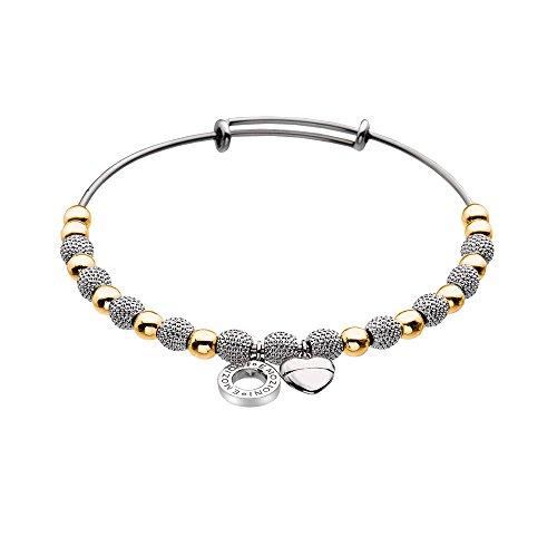 Emozioni by Hot Diamonds-Collana in oro rosa e cuore placcato in argento, braccialetto, misura