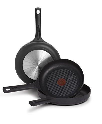 Tefal Sensoria Sartén,Antiadherente, para Todo Tipo de cocinas Incluido inducción, Aluminio Fundido con Extra de Titanio, Negro, 20 cm