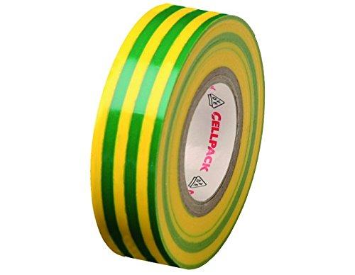 Isolation Warenkorb (Cellpack 1457741280,15–25–25, Nastro D Elektrische Isolierung PVC, Gelbgrün)