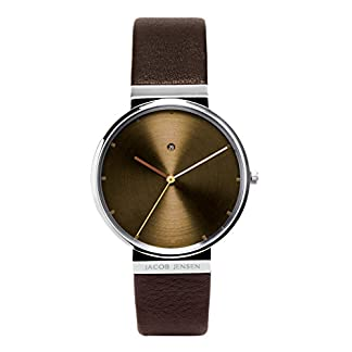 Jacob Jensen Reloj Analógico para Hombre de Cuarzo con Correa en Piel 4017101