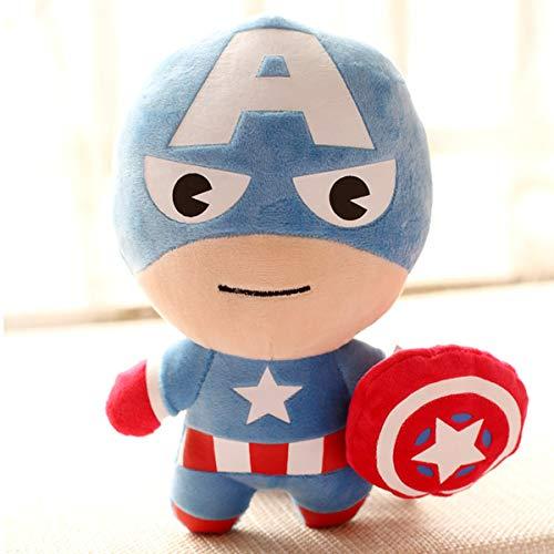 PANGDUDU Carino Q Versione della Bambola Peluche Avengers Hulk Bambola Ragazzo Peluche Regalo per Bambini 22 Centimetri, Capitan America