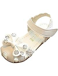 be978e85bd9 Bebe Fille Sandale Ete Fleur Chaussures Ballerine Perle Mary Jane Crochet  EU 21-25