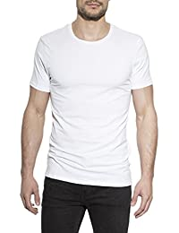 Bread & Boxers Crew-Neck, Camiseta Hombre, Blanco, ...