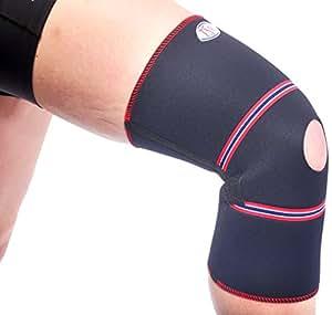 TSM 88 3509 Bandage de sport professionnel pour le genou avec ouverture pour la rotule Taille L