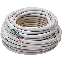 Kopp Mantel-Leitung 3 adrig, NYM-J 3x1.5 mm² (10m) Strom-Kabel für feste Verlegung, 300V/500V, elektrische Leitung für Feuchtraum, grau, 150810841