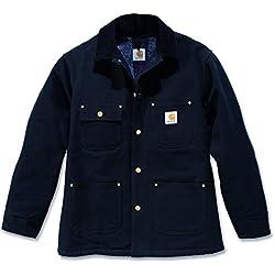 Carhartt Duck Chore Coat Chaqueta De Trabajo Impermeable Color Negro Talla S