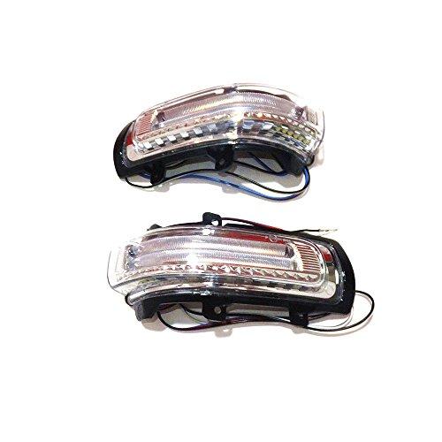 July King Rückspiegel LED-Leuchten JKW123 für TAxio Auris Camry 2006-2012, Corolla Altis 2007-2012 and Vios 2008-2012, Gelbe Blinker + Weiße DRL + Weiße Bodenleuchten (2011 Corolla Led)