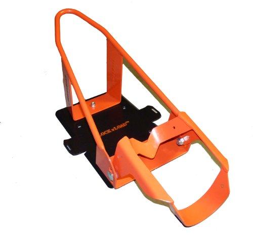 Lock N Load (BK100 orange/schwarz, luxuriöser Motorrad-Radvorleger/Unterlegkeil