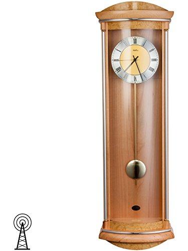 reloj-de-pendulo-ams-5080-16-reloj-de-pared-radio-colgante-carcasa-de-madera-de-aliso