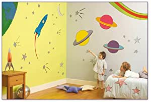 FunToSee Outer Space - Decorations for childrens rooms