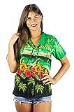 V.H.O. Funky Hawaiihemd Hawaiibluse, Palmen, Delphin, grün, S
